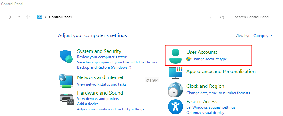 User Accounts Min