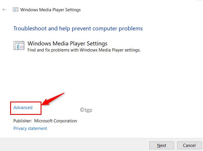 Windows Media Player Settings Advanced Min