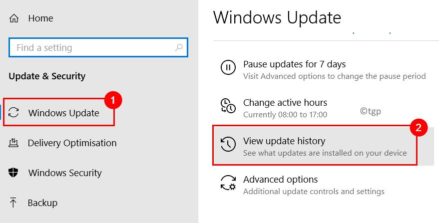 Windows Update View Update History Min