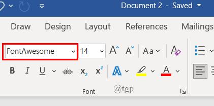 Word Doc New Font