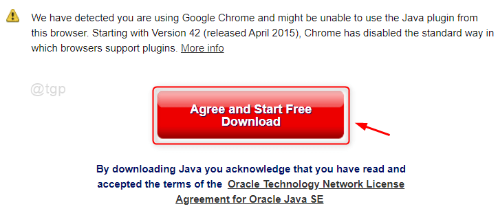 Agree And Start Download Java