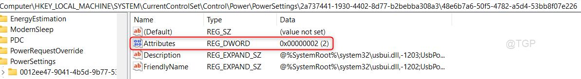 Attributes Usb Settings Missing Win11 Min