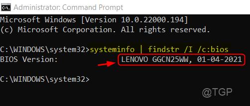 Bios Version Command Cmd Win11