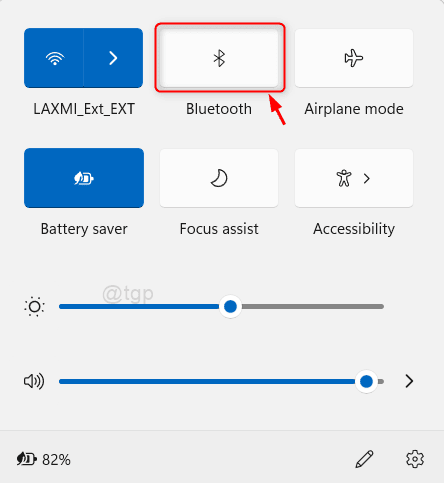 Bluetooth From Action Center Win11