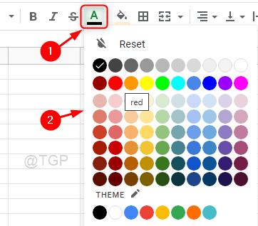 Change Text Color Google Sheet Min