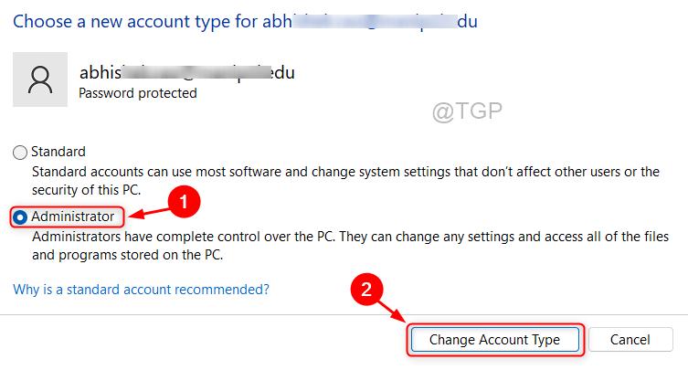 Choose New Acc Type Win 11 Min