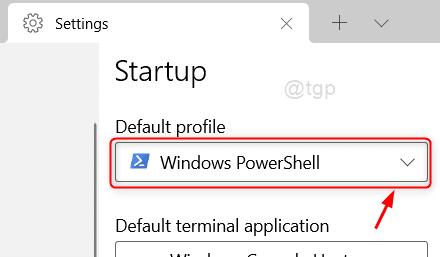 Default Profile Settings Icon Windows Terminal Win11