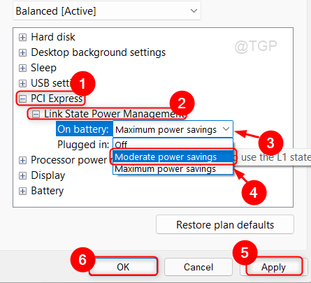 Link State Power Management Settings Win11 Min