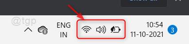 Network Notification Area