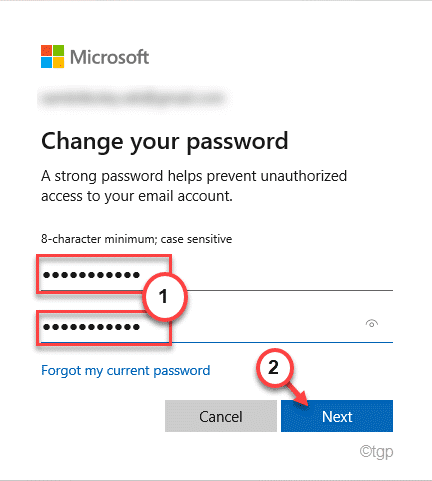 New Password And Old Min