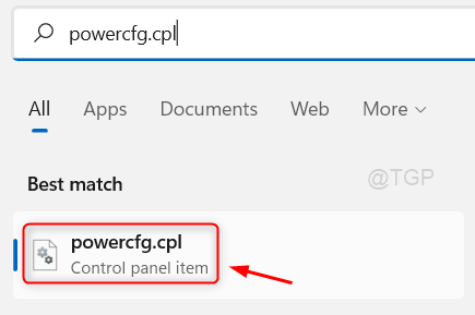 Open Power Config Control Panel Item Win11