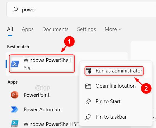 Open Powershell Run As Admin Win11