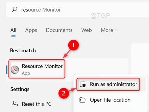 Open Resource Monitor Run As Admin Win11 Min