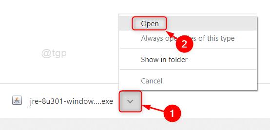 Open The Java Installer File
