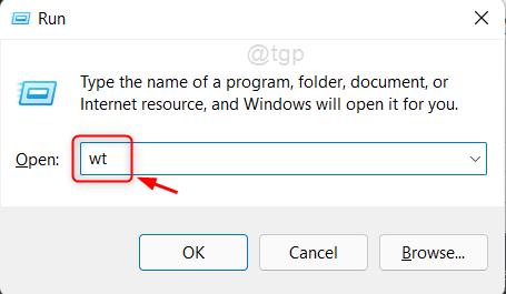 Open Windows Terminal App From Run Dialog Win11