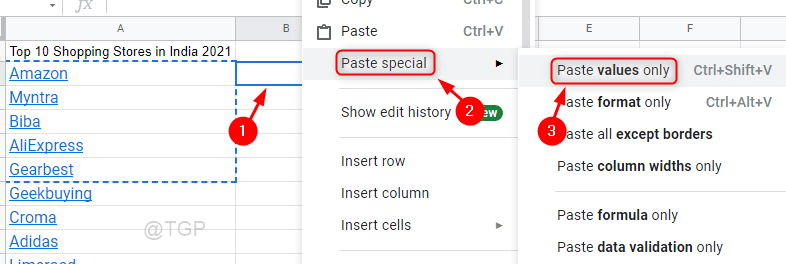 Paste Special Values Only Google Sheets Min