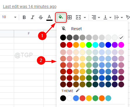 Select The Fill Color For Row Google Sheets Min