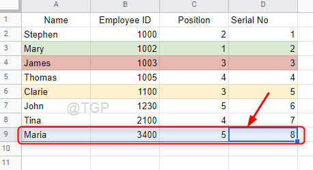 Select The Row To Fill Color Google Sheets Min
