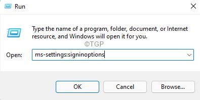 Settings Sigin In Options