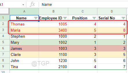 Sorted By Text Color Google Sheets