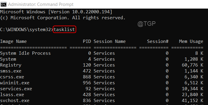 Tasklist Cmd As Admin Process Id Win11 Min