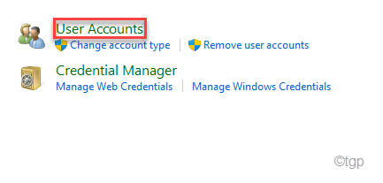 User Account Min