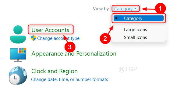 User Accounts Category Selected Win11 Min